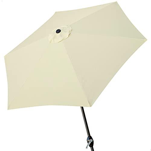 Aktive - Parasol hexagonal Garden diámetro 3 m - Mástil de aluminio...