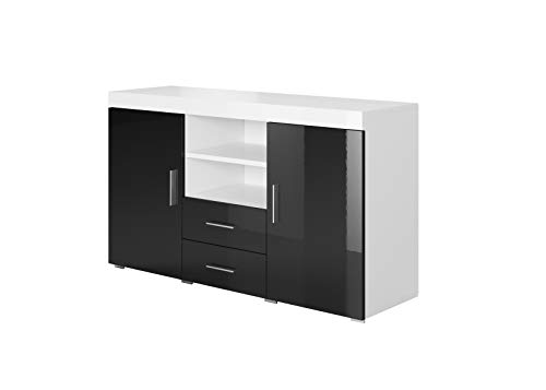 Muebles Bonitos | Aparador Moderno Roque | Ancho 140cm x Alto 80 cm x...