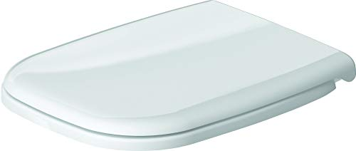 Duravit 67310099 - Tapa y Asiento de inodoro D-Code, compacto, con bisagras de acero inoxidable sin cierre SoftClose, 1pieza, color blanco