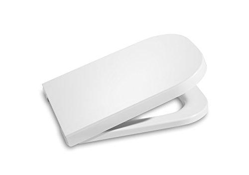 Roca A801732004 The Gap - Tapa y Asiento para Inodoro Compacto con Caída Amortiguada, color Blanco