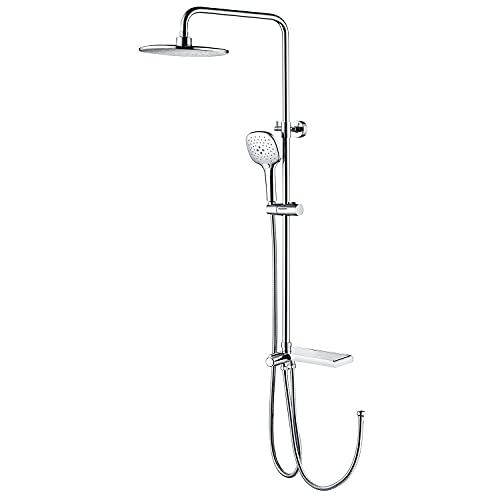 Lonheo Columna de ducha sin grifo,Barra de ducha ajustable en altura...