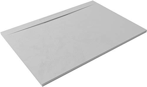 HIDRONATUR - Plato de ducha extraplano, diseño Lyra, 90 x 140 cm,...
