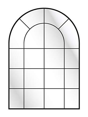 CustomGlass Espejo Pared con decoración Personalizada Modelo Industrial de Medio Punto (100 x 70 cm)