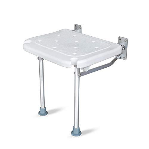 Silla de baño plegable para ducha, con orificio antideslizante para...