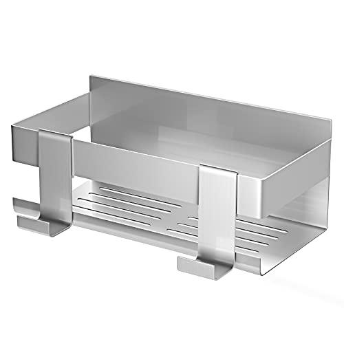 SOGAWEBB Estante de ducha sin agujeros,cesta de ducha de acero...