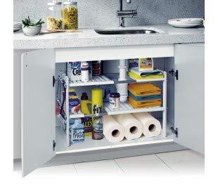 Estantería modular de 2 niveles para interior armarios y muebles...