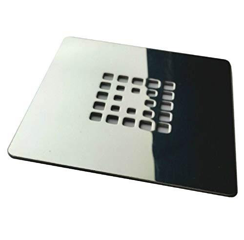Rejilla cuadrada de 14 X 14 cm en acero inoxidable para platos de...