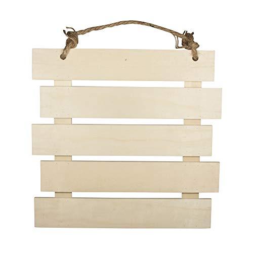 Rayher 62865505 Cartel de madera con listones, 30.5 x 31.6 x 1.5 cm,...