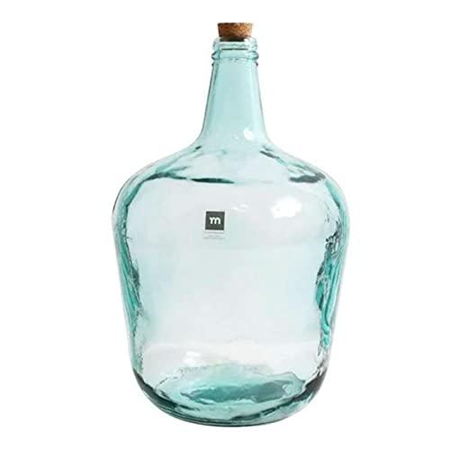 La Mediterránea - Garrafa de vidrio 8 litros, tapón de corcho,...