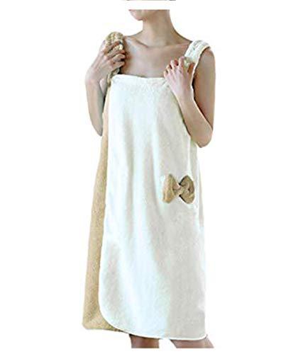 YJZQ - Albornoz de baño para mujer, sin banda para el pelo, secado...