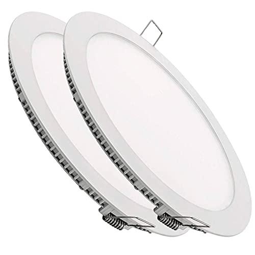 Pack 2x Downlight LED Panel Extraplano Redondo 20W. Color Blanco Frio...