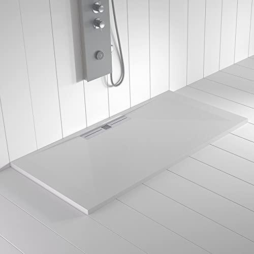 Shower Online Plato de ducha Resina WIDE - 90x210 - Textura Pizarra -...