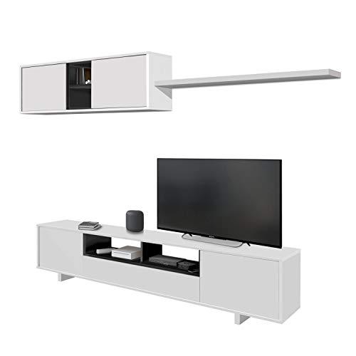 Habitdesign 0Z6682BO - Mueble de salón Moderno, modulos Comedor...