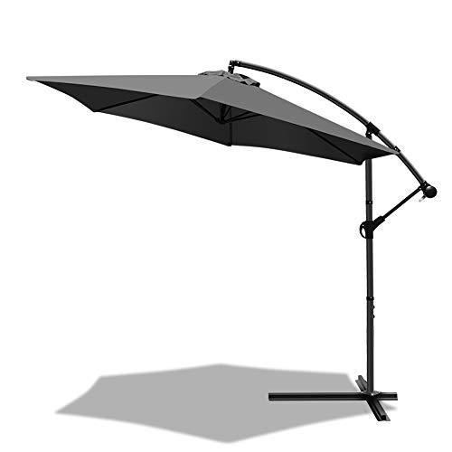 VOUNOT 300 cm Parasol Excentrico, Sombrilla de Jardín con Manivela y...