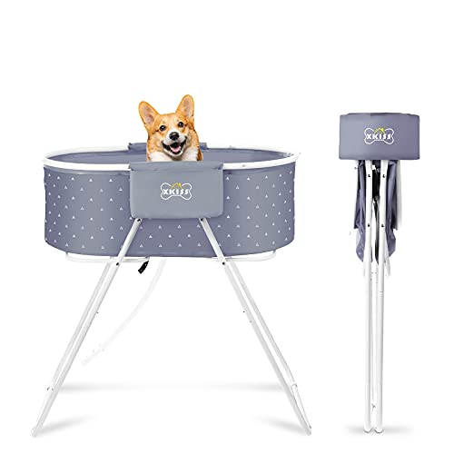 XKISS Bañera para perros plegable y fácil de transportar con...