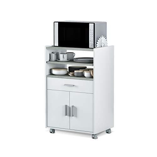 Mueble Auxiliar para Microondas, Mesa Cocina con un Cajón y dos...