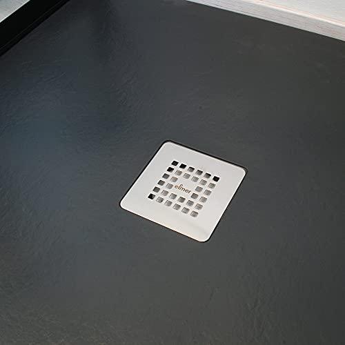 Plato de ducha Nola, plato extraplano imitación piedra, 100 x 100 x 3...