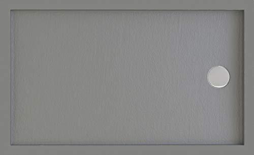 Plato de Ducha Resina y Fibra de Vidrio(Blanco, 100 X 70)
