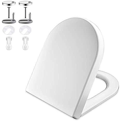 GRIFEMA G951 - Tapa WC, Asiento de Inodoro de Cierre Suave en Forma de...