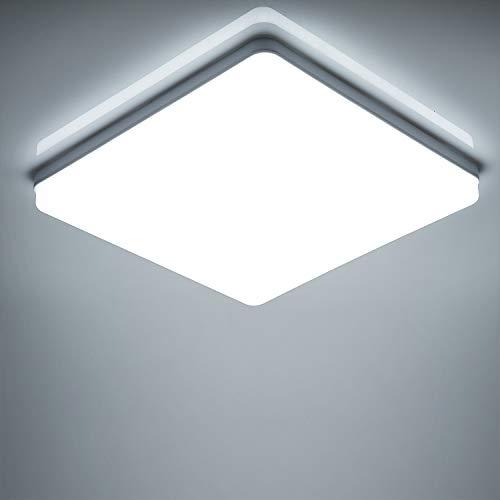 Yafido LED Lámpara de Techo Moderna 48W Plafón Led Cuadrado Ultra...