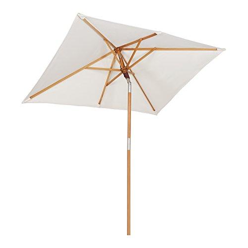 Sekey® sombrilla Parasol de Madera para terraza jardín Playa Piscina...