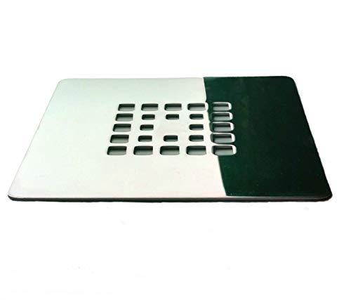 Rejilla cuadrada de 12 X 12 cm en acero inoxidable para platos de...