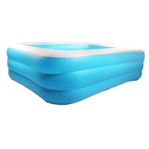 Piscina inflable rectangular grueso para niños para jardín al aire...