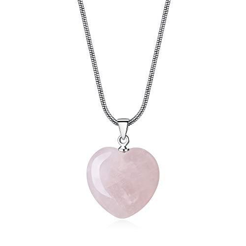COAI Collar para Mujer de Acero Inoxidable con Colgante Corazón de...