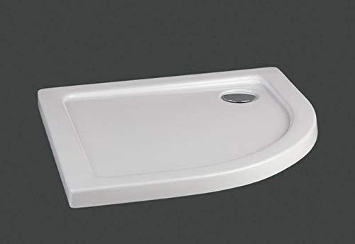 Plato de ducha semicircular en material acrílico   altura 5 cm ...