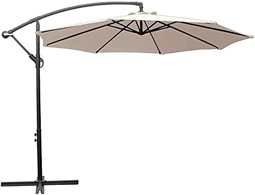 HENG FENG Sombrilla de jardín en voladizo de 3 m, sombrilla Colgante...