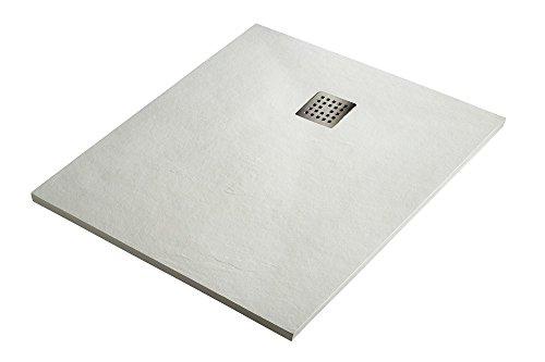 Plato de Ducha Resina Sintextone Mod. Pacifico 80 cm Ancho (80x80,...