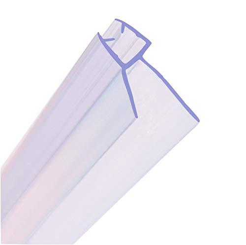 Junta para mampara de ducha HNNHOME de 4 a 6 mm, para vidrio recto o curvado, con separación de hasta 20 mm