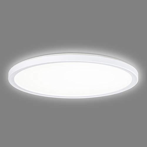 Navaris Lámpara LED de techo regulable - Iluminación redonda Ø 42 CM bajo consumo de 22 W y cambio de temperatura de color de luz fría a cálida