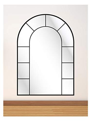 CustomGlass Espejo Pared con decoración Personalizada Modelo Industrial de Medio Punto 2 (100 x 70 cm)