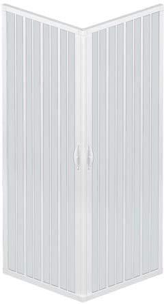 Cabina de ducha de fuelle Liberte' 80 x 120 cm, angular, reducible,...