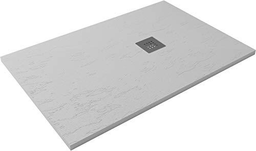 HIDRONATUR - Plato de ducha extraplano clásico (90 x 120 cm), color...