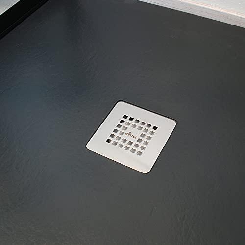 ONDée - Plato de ducha Nola, plato extraplano, textura imitación...