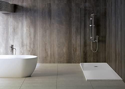 Plato de ducha Slim 3 cm modelo Slate col. blanco (70 x 170) RAL 9003