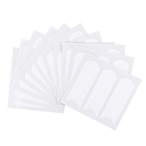 VOARGE 12 unidades de pegatinas para manicura francesa, color blanco, plantillas para manicura artística, decoración para manicura, herramientas DIY