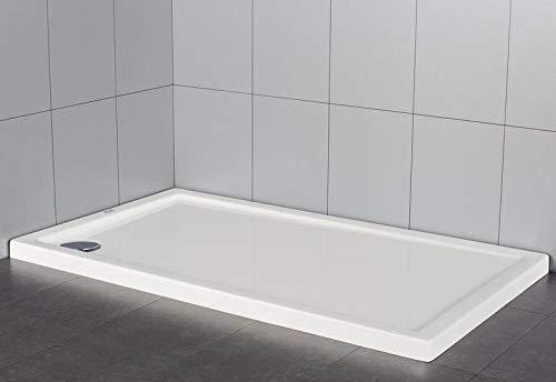 Plato de ducha rectangular en material acrílico   altura 5 cm ...
