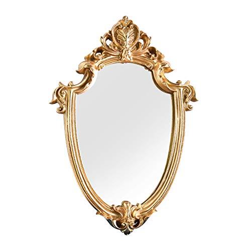 Fenteer Espejo Ovalado Estilo Barroco Espejos Decorativos para Pared...