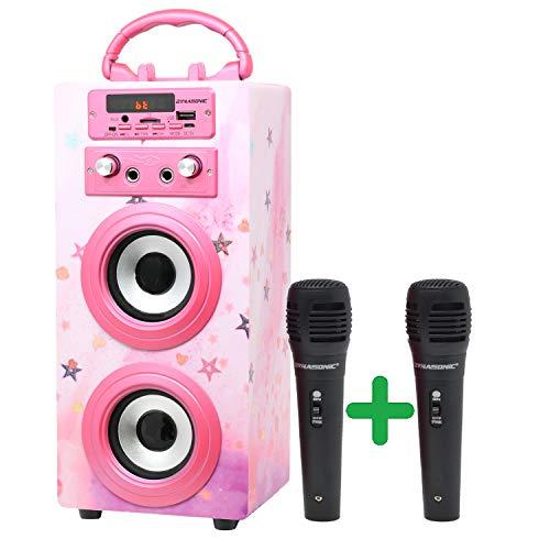 DYNASONIC (3º Generación)- Altavoz Bluetooth Portatil Karaoke con...