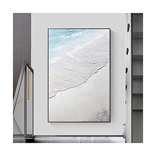 Wabi-Sabi Estilo Abstracto Paisaje De Playa Pintura Decorativa...