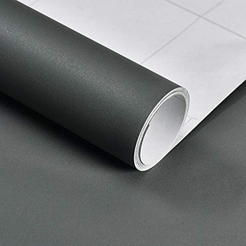 Hode papel adhesivo para muebles, vinilo adhesivo muebles gris oscuro...