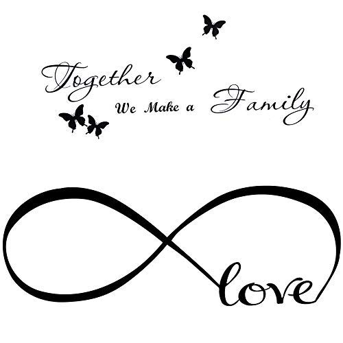 2pcs Pegatinas Pared Frases Amor Familia Vinilos Letras Ingles con...