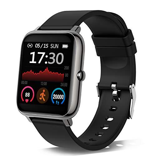 Smartwatch, Reloj Inteligente con Pulsómetro, Cronómetros,...