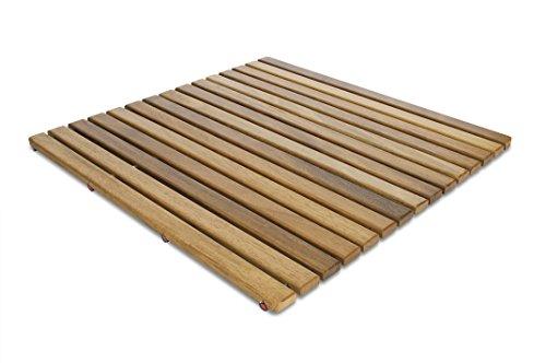 Tarima / Alfombrilla FLEXIBLE para ducha y baño, en madera de teca...