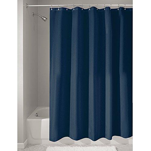 iDesign Cortinas de baño de tela, cortina impermeable de poliéster...