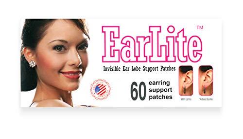 EarLite - Parches invisibles para pendientes, 60 unidades