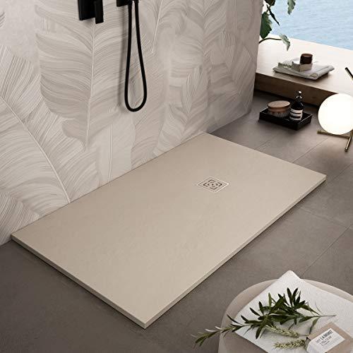 Essence ArredoBagno Plato de ducha de resina 100 x 90 cm – Efecto...